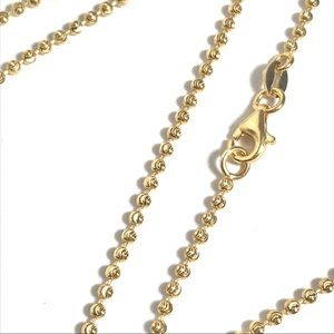 Other - 22 In or 30 In Diamond Cut Bead Chain 925 Silver